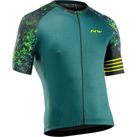 Northwave Blade Short Sleeve Jersey Men, black/green/lime
